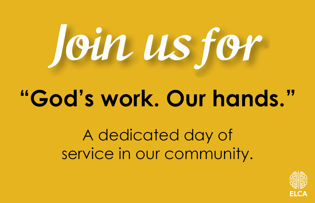 God's work. Our hands. Day of service